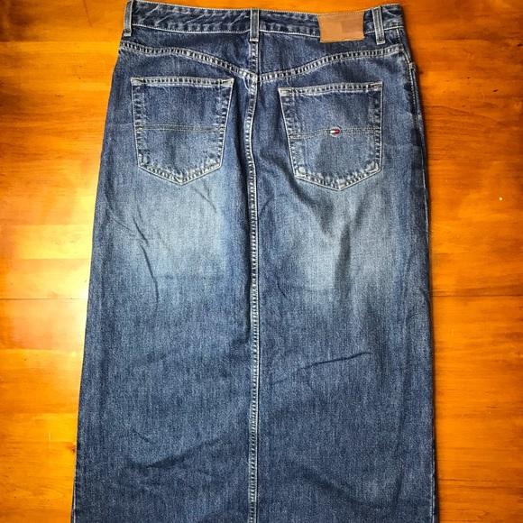 Tommy Hilfiger Dresses & Skirts - Tommy Hilfiger Womens Blue Denim Jean Skirt Size 8